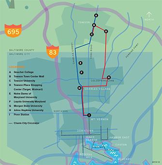 Collegetown Shuttle Map